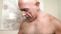 Bald silver daddy and eager bottom guy